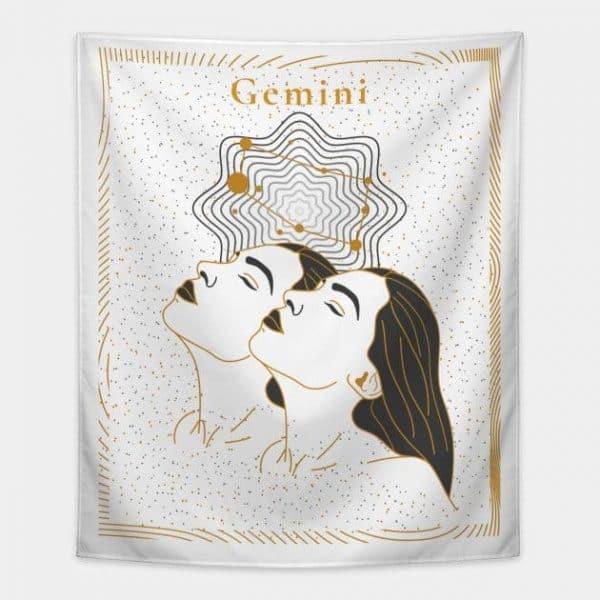 Gemini Tapestry White