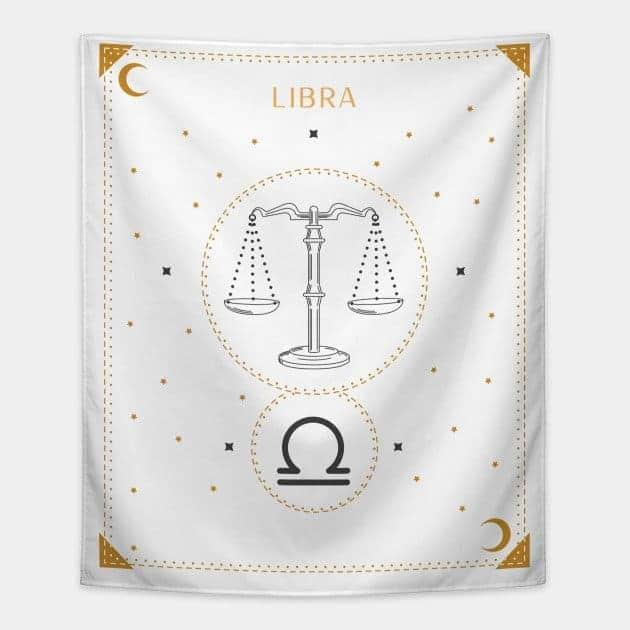 Libra Tapestry White