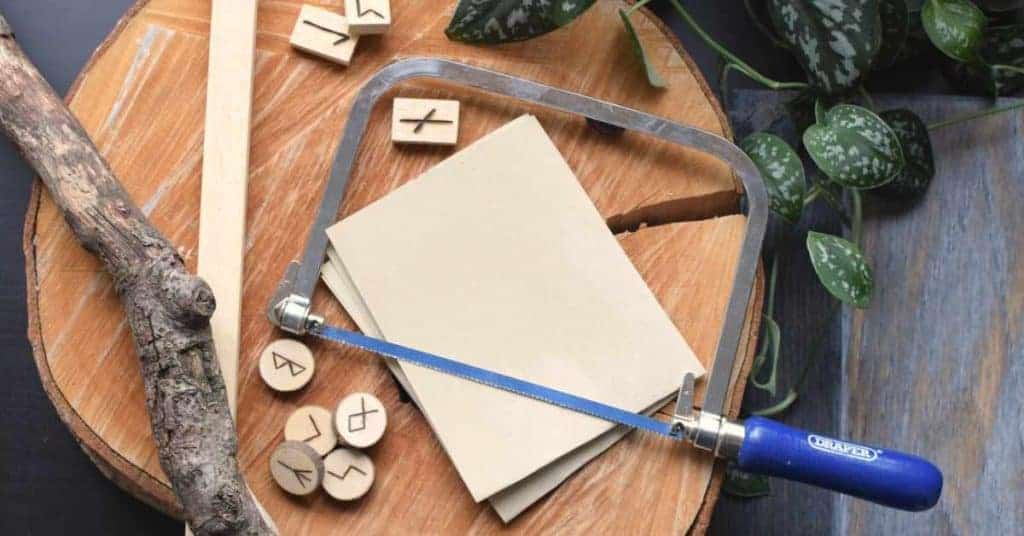 Materials to make your own runes set