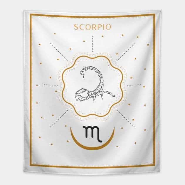 Scorpio Tapestry White